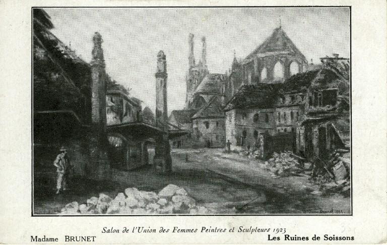 Les ruines de Soissons - Salon de l'union des femmes et sculpteur de 1923 (Mme Brunet)_0