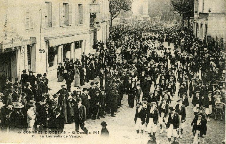 Soissons - Congrés diocésain - 13 octobre 1912 - La Laurentia de Vauxrot