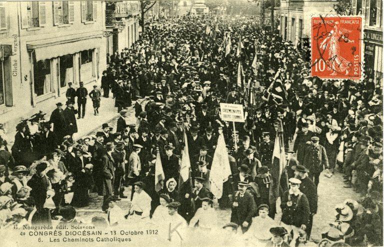 Soissons - Congrés diocésain - 13 octobre 1912 - Les cheminots catholiques_0