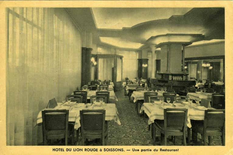 Soissons - Hôtel du lion rouge - Une partie du restaurant