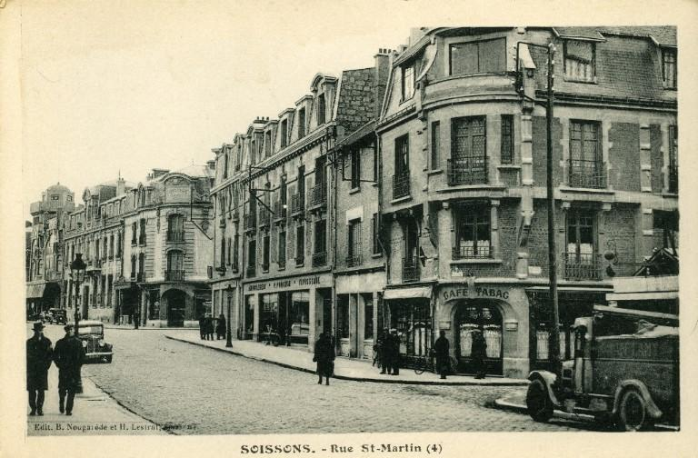 Soissons - La rue Saint-Martin