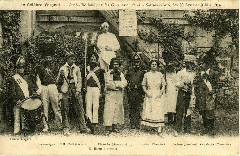Soissons - Le célèbre Vergeot - Vaudeville joué par les gymnastes de la soissonnaise les 30 avril et 3 mai 1914_0
