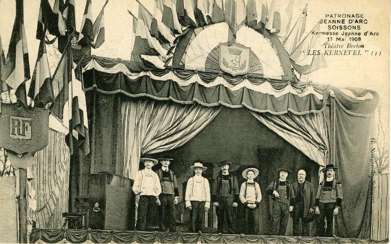 Soissons - Patronage 'Jeanne d'Arc', kermesse 17 mai 1908 - Théâtre Breton 'Les Kernevel'_0