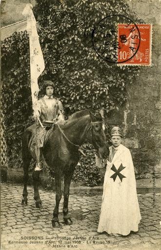Soissons - Patronage 'Jeanne d'Arc', kermesse 17 mai 1908 - La revue - Jeanne d'Arc
