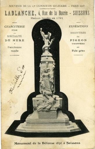 Soissons - Souvenir de la 25e exposition culinaire - Paris 1908 - Lablanche, 4 rue de la buerie_0