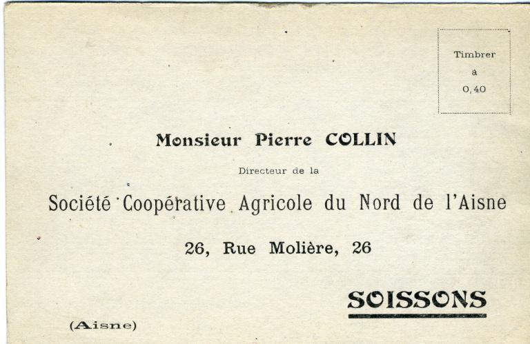Soissons (bon de commande société coopérative agricole du Nord de l'Aisne)_0