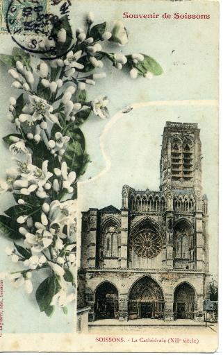 Souvenir de Soissons - La cathédrale XIIème siècle_0