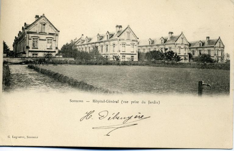 Soissons - Hopital-Général (vue prise du jardin)_0