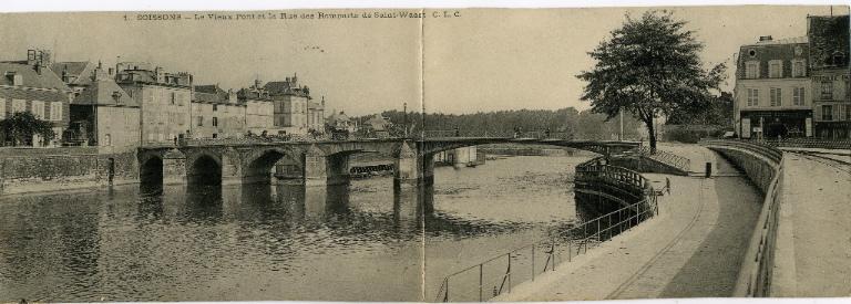 Soissons - Le vieux pont et la rue des remparts de Saint-Waast_0
