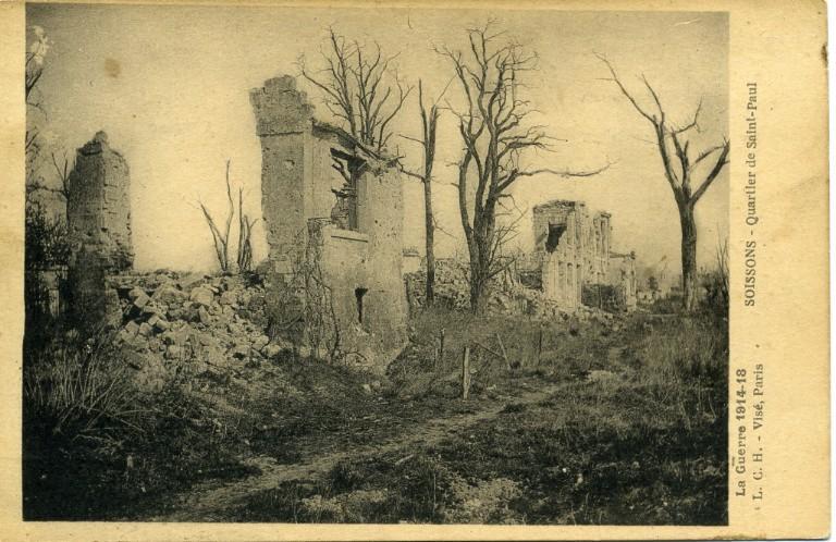 Soissons - Quartier de Saint-Paul - Guerre 1914-18_0