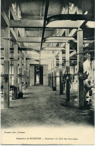 Abattoirs de Soissons - Intérieur du hall des bouchers_0