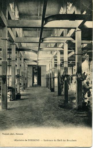 Abattoirs de Soissons - Intérieur du hall des bouchers
