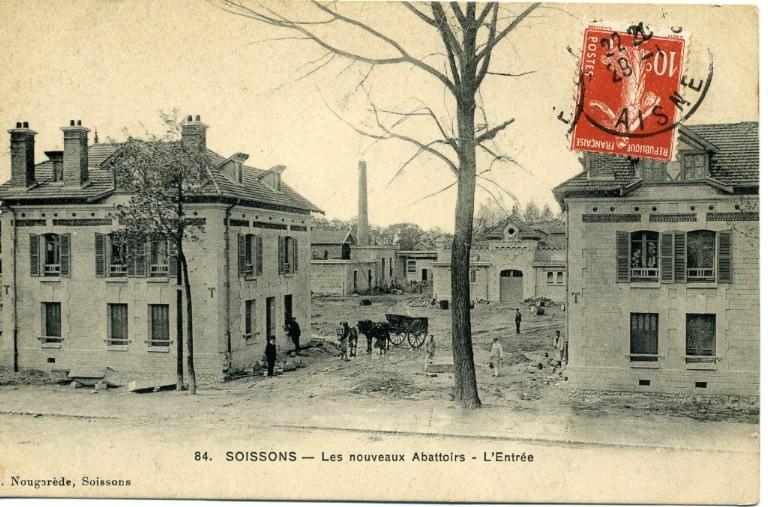 Soissons - Les noouveaux abattoirs - L'entrée