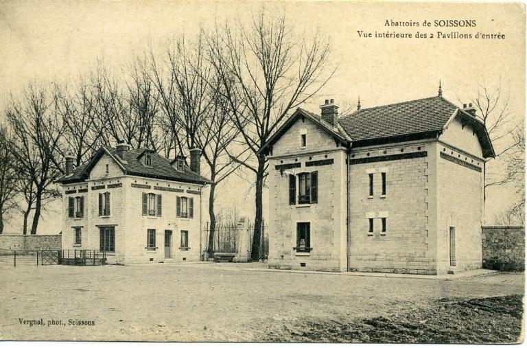 Abattoirs de Soissons - Vue intérieure des 2 pavillons d'entrée_0