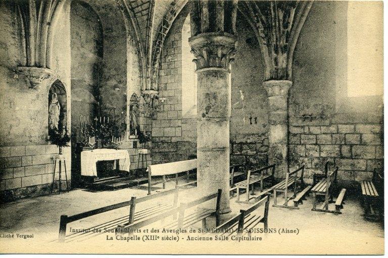 Soissons - Institut des Sourds-Muets et des aveugles de Saint-Médard-les-Soissons (Aisne) - La chapelle (XIIIe siècle) - Ancienne salle capitulaire_0