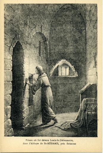 Prison ou fut détenu Louis Le Débonnaire dans l'abbaye Saint-Médard, prés Soissons_0