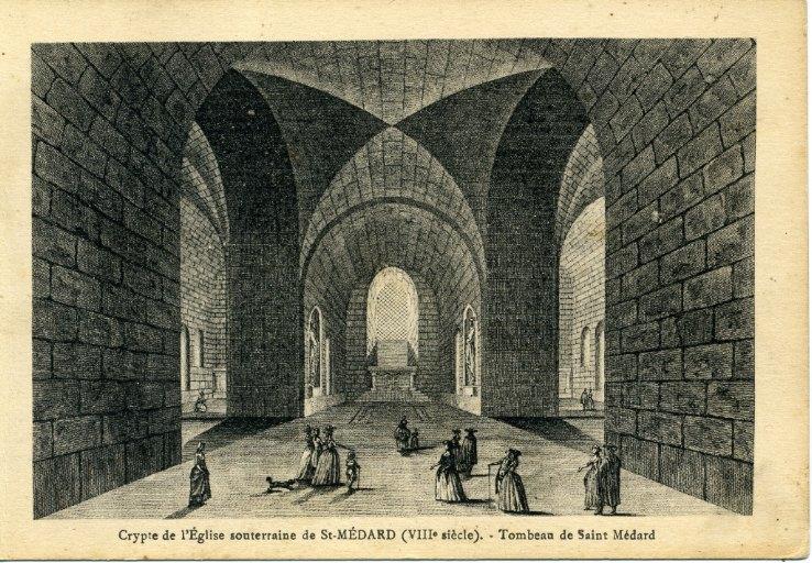 Soissons - Crypte de l'église souterraine de Saint-Médard (VIII siècle) - Tombeau de Saint-Médard