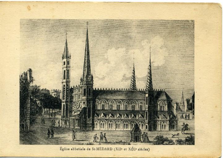 Soissons - Eglise abbatiale de Saint-Médard (XII e et XIIIe siècle)_0