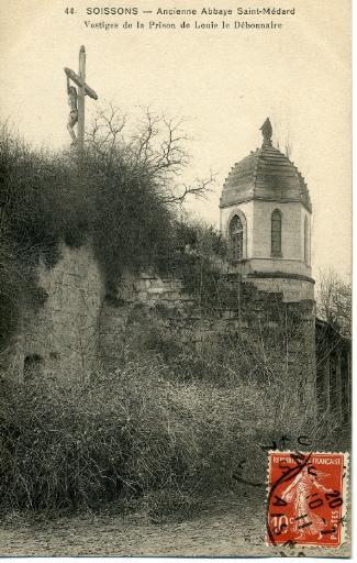 Soissons - Ancienne abbaye Saint-Médard - Vestiges de la prison de Louis le Débonnaire_0
