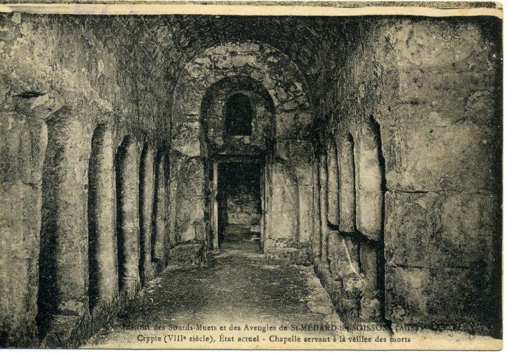 Institut des Sourds-Muets et des Aveugles de Saint-Médard-les-Soissons - Crypte (VIIIe siècle), état actuel - Chapelle servant à la veillée des morts_0