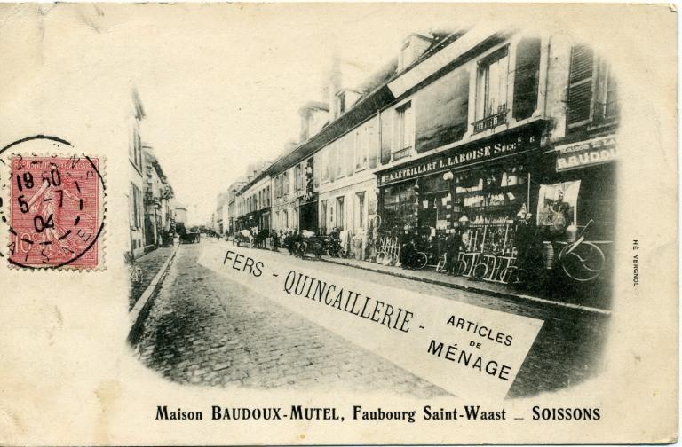 Soissons (carte postale) - Maison Baudoux-Mutel