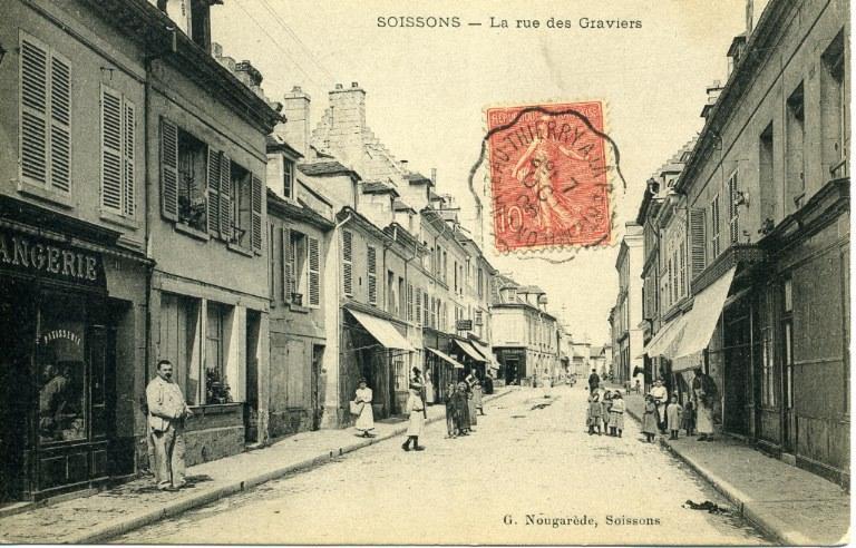 Soissons - La rue des Graviers