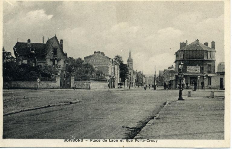 Soissons - Place de Laon et rue Porte-Crouy