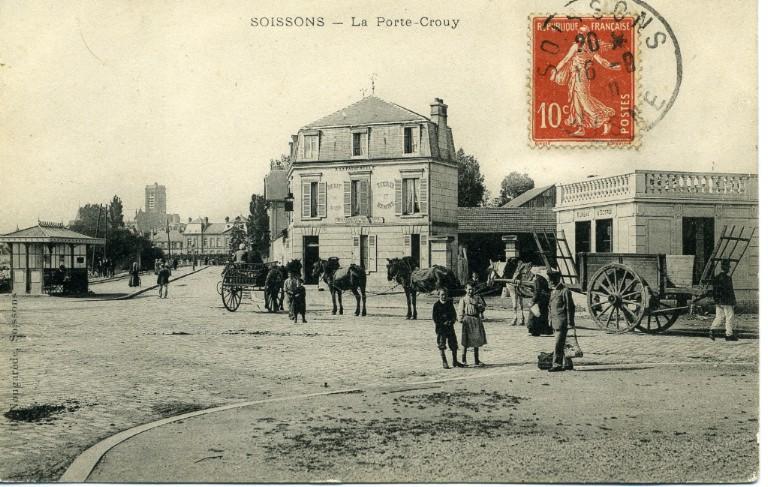 Soissons - La porte-Crouy