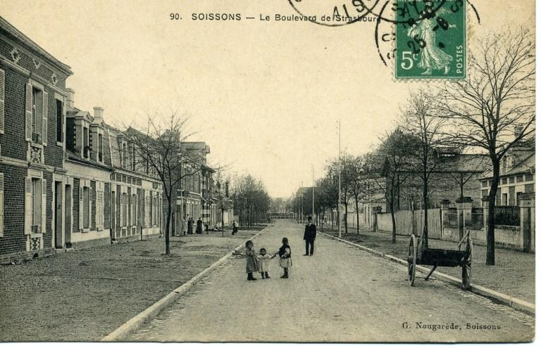 Soissons - Le boulevard de Strasbourg