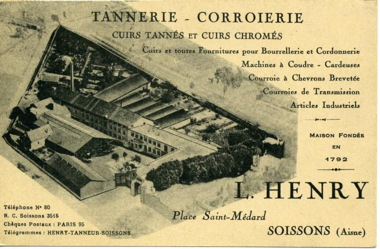 Soissons - L. Henry - Tannerie corroierie_0