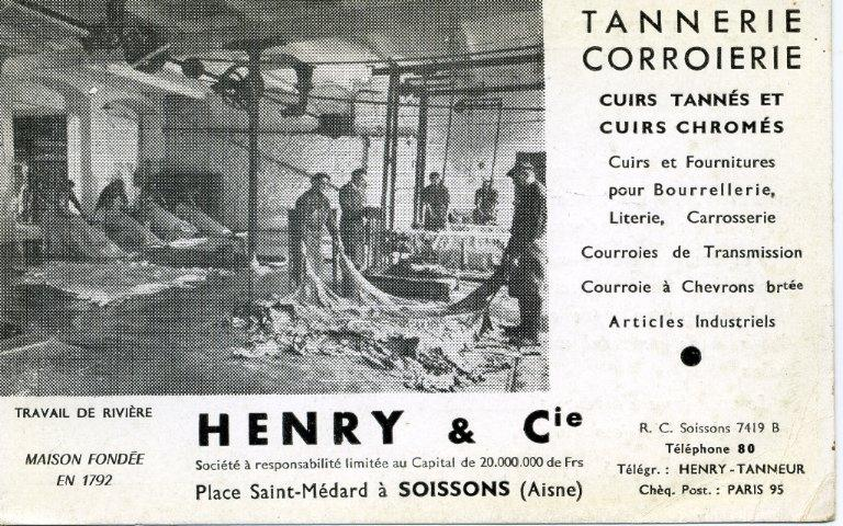 Soissons - Henry & Cie - Tannerie corroierie