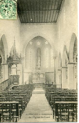 Soissons - Intérieure de l'Église Saint-Waast_0