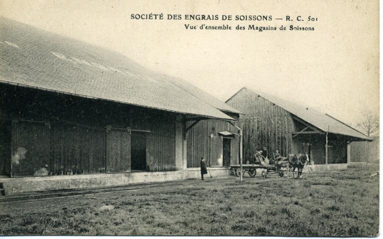 Société des engrais de Soissons - Vue d'ensemble des magasins de Soissons_0
