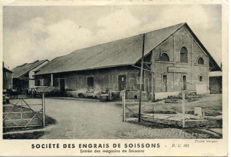 Société des engrais de Soissons - Entrée des magasins_0