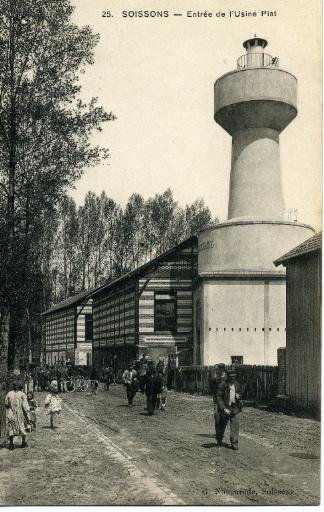 Soissons - Entrée de l'usine Piat_0