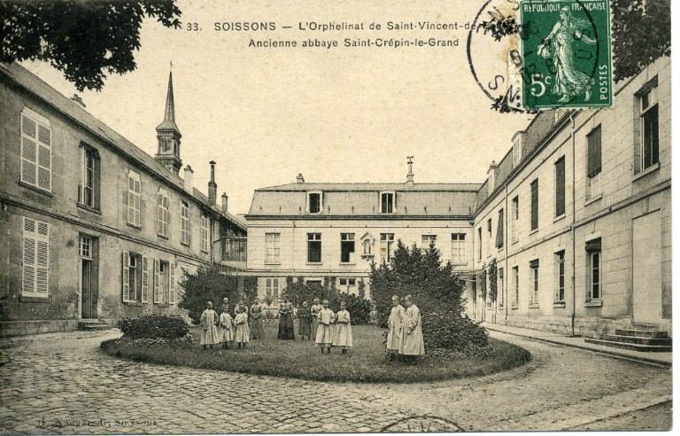 Soissons -L'Orphelinat de Saint-Vincent de Paul - Ancienne abbaye Saint-Crépin-le-Grand