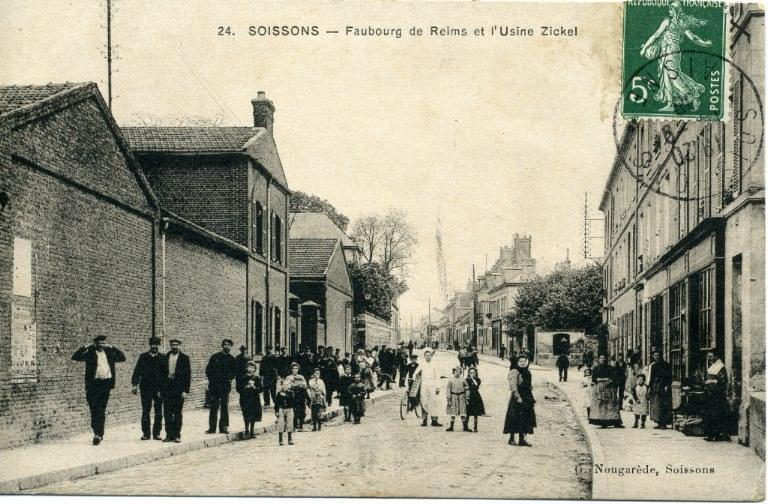 Soissons - faubourg de Reims et l'usine Zickel Deahaître_0