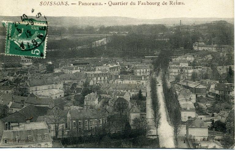 Soissons - Panorama - Quartier du Faubourg de Reims_0
