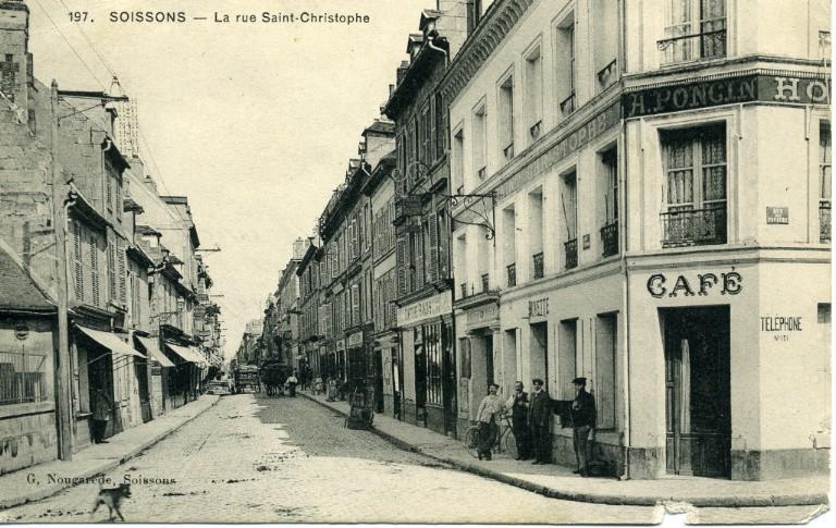 Soissons - La rue Saint-Christophe