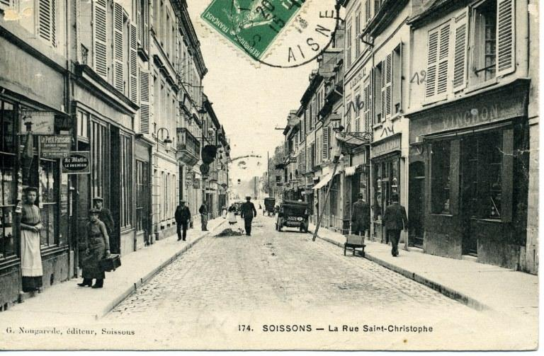 Soissons - La Rue Saint-Christophe