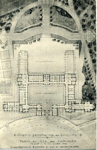 Grand séminaire de Soissons - Ensemble du plan du rez-de-chaussée_0