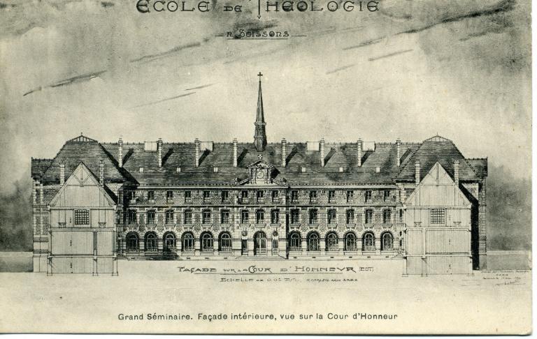 Soissons - Ecole de Théologie - Grand Séminaire -façade intérieure, vue sur la Cour d'Honneur_0