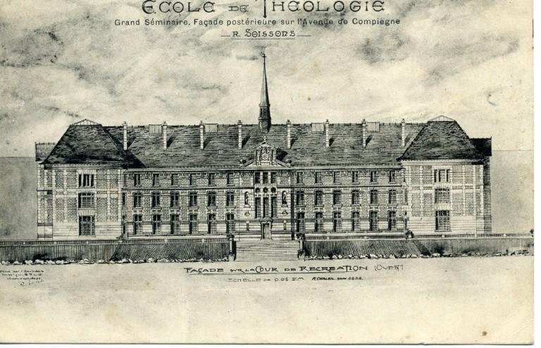 Soissons - Ecole de Théologie - Grand Séminaire -façade postérieure sur l'Avenue de Compiègne_0