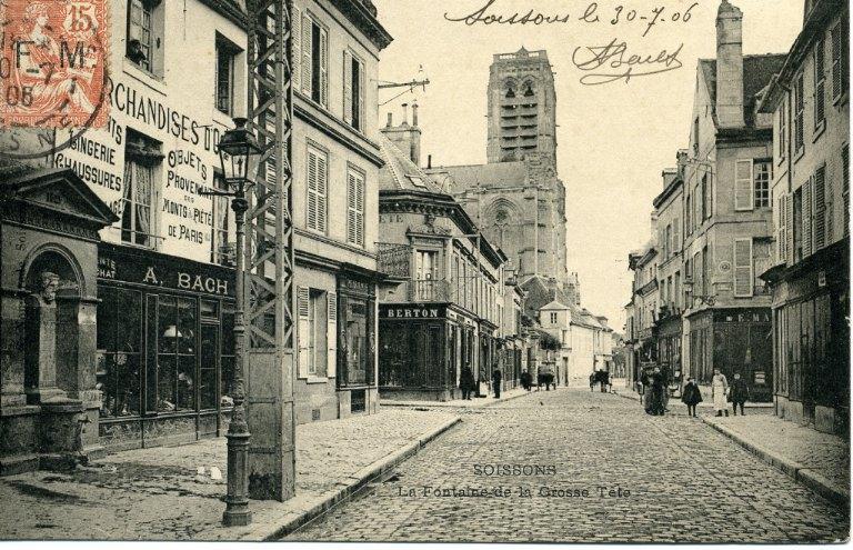 Soissons - La Fontaine de la Grosse Tête