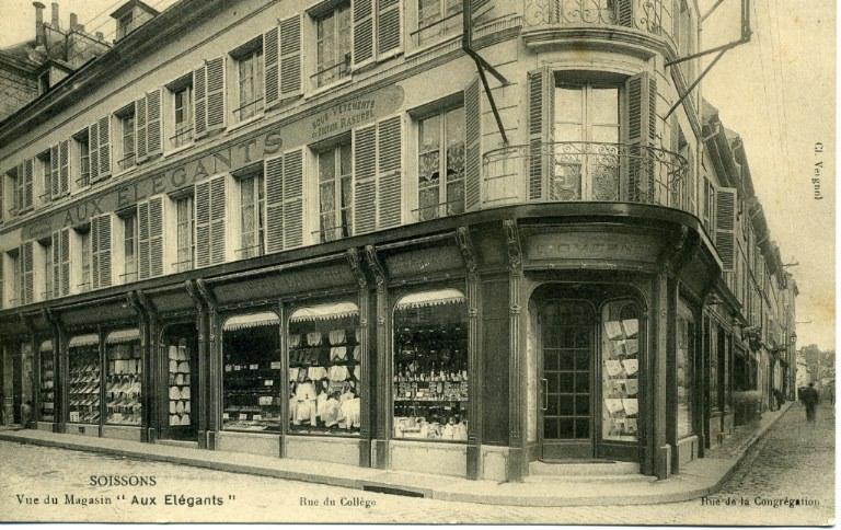 Soissons - Vue du Magasin ' aux élégants ' (Rues du collège et de la Congrégation)_0