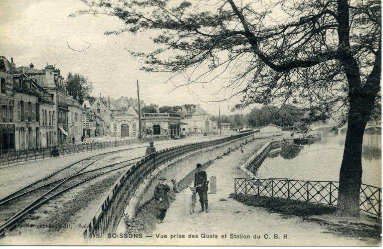 Soissons - Vue prise des Quais et Station du C.B R_0