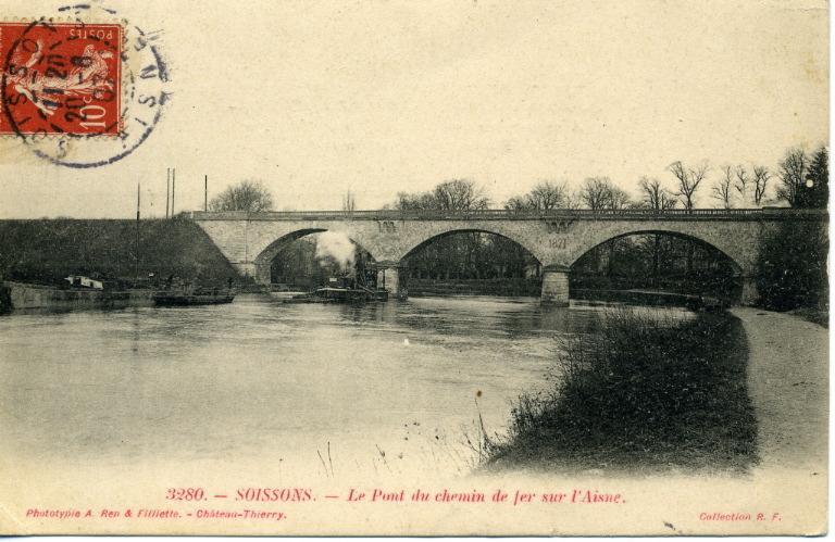 Soissons - Le Pont du chemin de fer sur l'Aisne_0