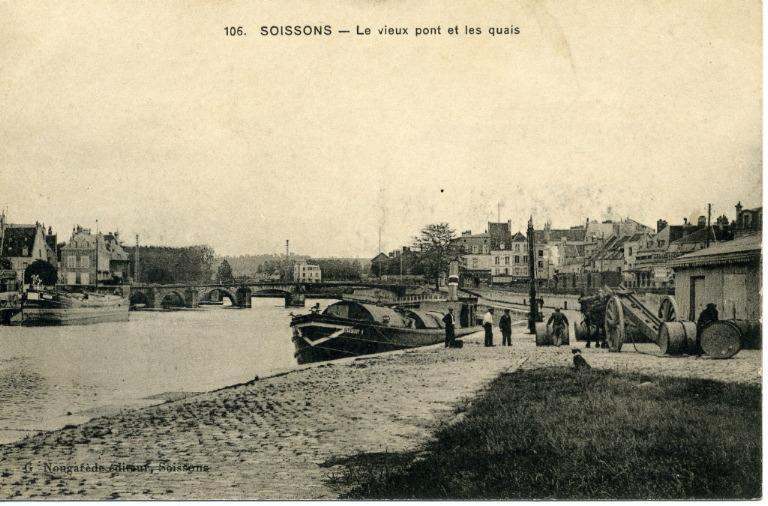 Soissons - Le vieux pont et les quais_0
