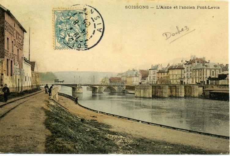 Soissons - L'Aisne et l'ancien Pont-Levis