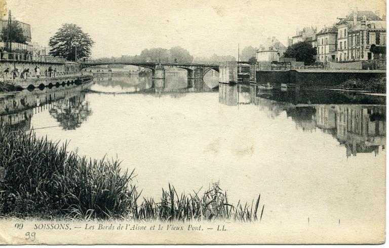 Soissons - Les Bords de l'Aisne et le Vieux Pont_0